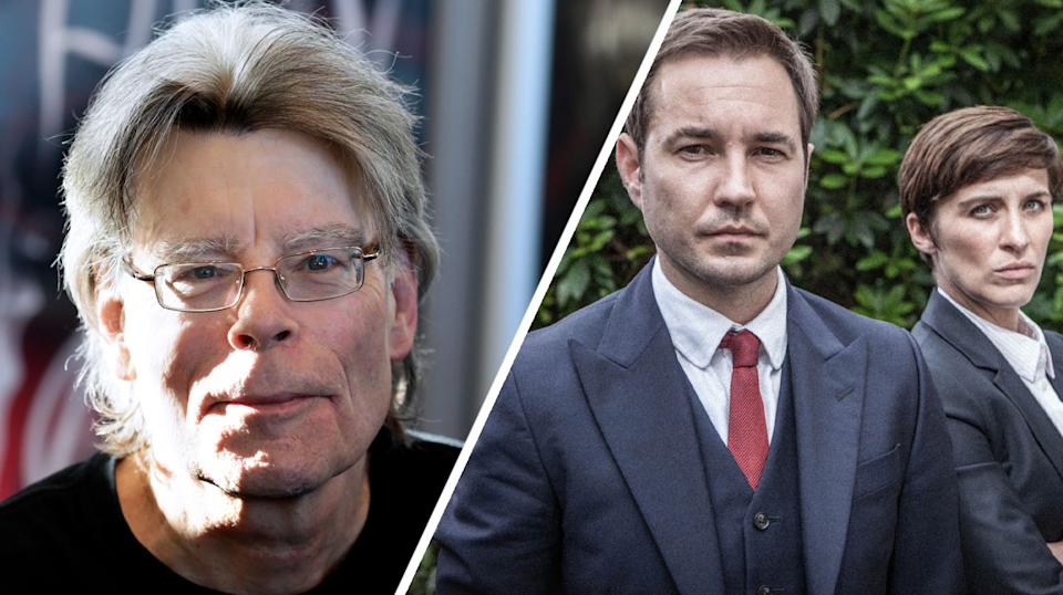 Stephen King has outed himself as a Line of Duty fan (AFP/BBC)