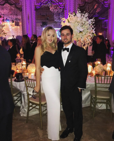 Tiffany Trump and beau Ross Mechanic at Donald Trumps' New Year's Eve Party. (Photo: @tiffanytrump)