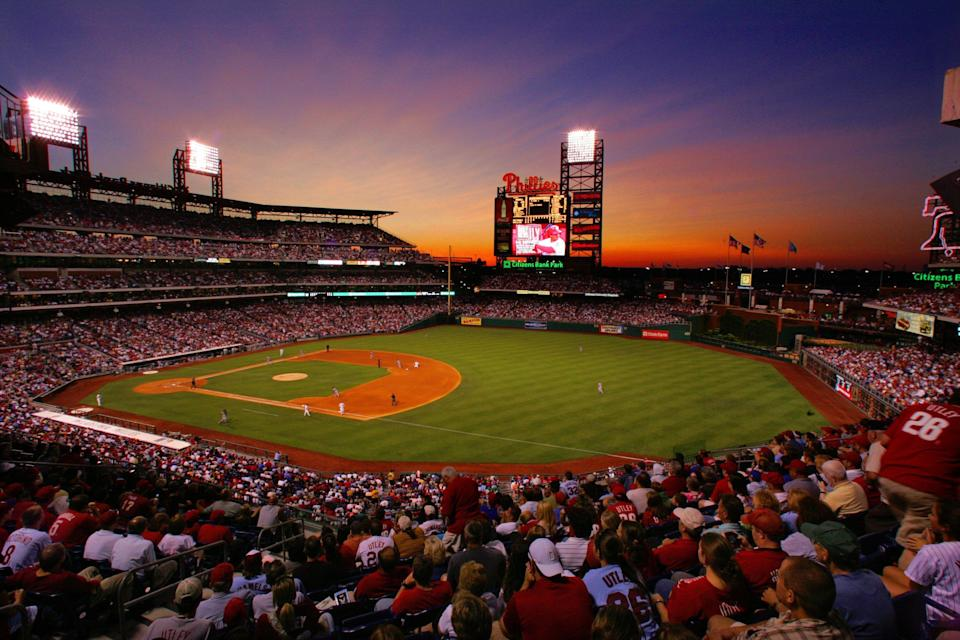 Citzens Bank Park in Philadelphia will join the short list of sports venues that allows mobile sports betting from inside the stadium. (Photo by Miles Kennedy/Philadelphia Phillies/MLB Photos via Getty Images)