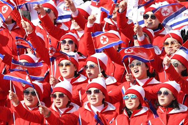 "North Korea's ""army of beauties"" were headline makers at the 2018 Winter Olympics, but North Korean athletes haven't been. (Getty)"