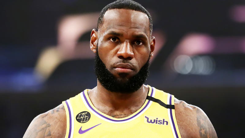 LeBron James, pictured here in action for the Los Angeles Lakers in March.