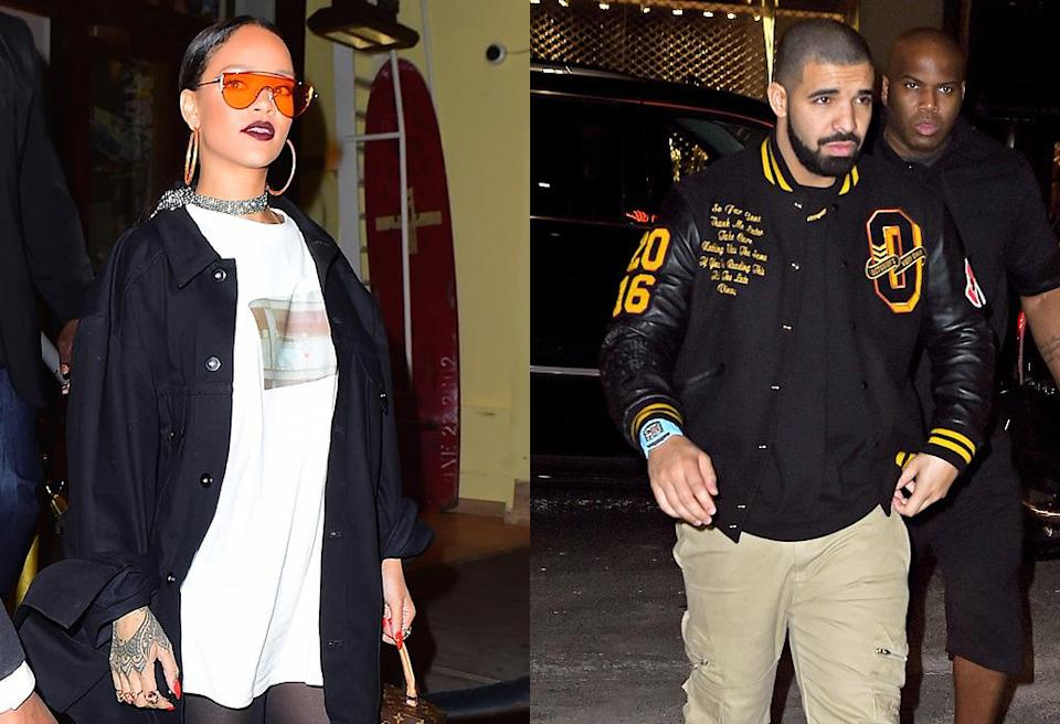 "<p>While rumors swirled this week that Drake was <a href=""http://www.eonline.com/news/800994/drake-and-rihanna-split-up-again-rapper-spotted-out-with-india-love"" rel=""nofollow noopener"" target=""_blank"" data-ylk=""slk:hooking up with model India Love,"" class=""link rapid-noclick-resp"">hooking up with model India Love,</a> and that he and Rihanna had parted ways, a source told <i>People</i> that Drake and Rihanna aren't exclusive: ""It's an open thing."" Stay tuned… (Photos: Splash News) </p>"