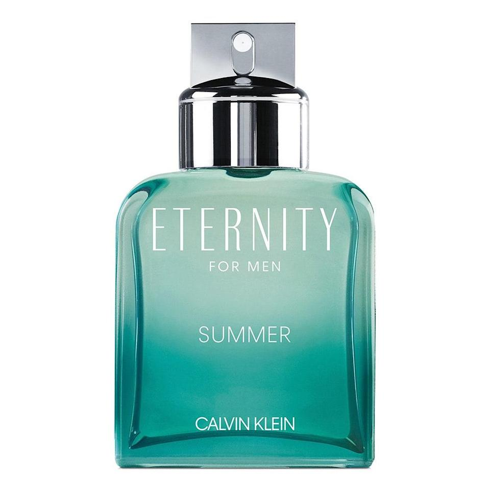 "<p>If there's one word to describe your love for dad, it's timeless. Luckily for you, Calvin Klein's Eternity for Men Summer Edition bottles up that feeling into a seasonally-appropriate scent by blending together notes of anise star, sage, Italian bergamot oil, coconut water, and Australian sandalwood. Even if dad's coastal family vacation plans have been thwarted, he can still have a little taste of the sea.</p> <p><strong>$82</strong> (<a href=""https://shop-links.co/1709094998981068374"" rel=""nofollow noopener"" target=""_blank"" data-ylk=""slk:Shop Now"" class=""link rapid-noclick-resp"">Shop Now</a>)</p>"