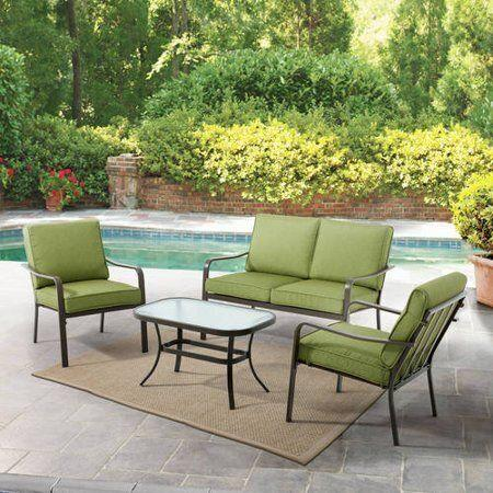 This four-piece patio set comes with free, two-day delivery. (Photo: Walmart)