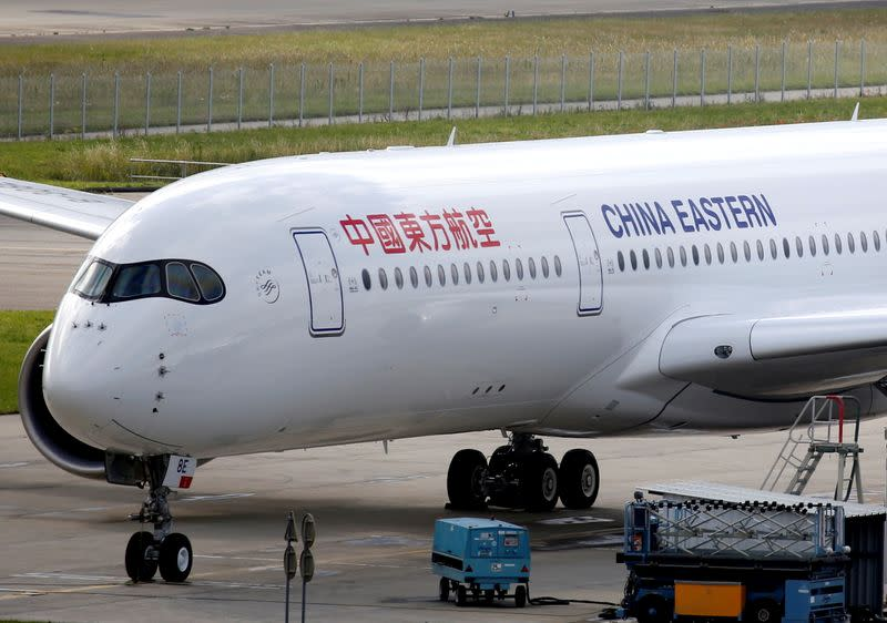 FILE PHOTO: China Eastern Airlines Airbus A350 is pictured in Blagnac near Toulouse