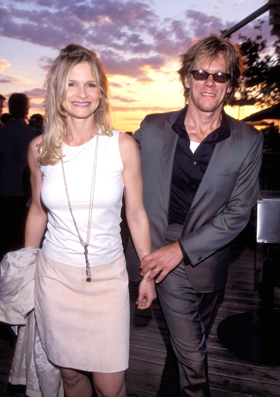 "<h1 class=""title"">""Talk"" Magazine Launch Party - August 2, 1999</h1> <div class=""caption""> Kyra and Kevin at a party on Liberty Island in New York </div> <cite class=""credit"">KMazur/Getty Images</cite>"