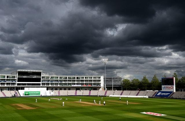 Clouds surrounded the Ageas Bowl