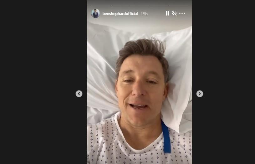 Ben Shephard shared a post-op update from his hospital bed. (Instagram)
