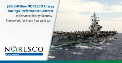 NORESCO, a national leader in energy efficiency and infrastructure solutions, is implementing self-funding facility improvements for the Navy Region Japan through an $86.8 million guaranteed energy savings performance contract (ESPC). The project at Naval Air Facility (NAF) Atsugi, Commander Fleet Activities (CFA) Sasebo and CFA Yokosuka will strengthen energy security and enhance resiliency and reliability in support of the United States Navy's mission.