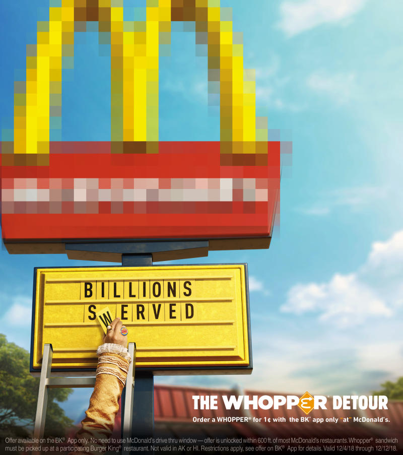 Order a Whopper® Sandwich for a Penny at McDonald's with the BK® App
