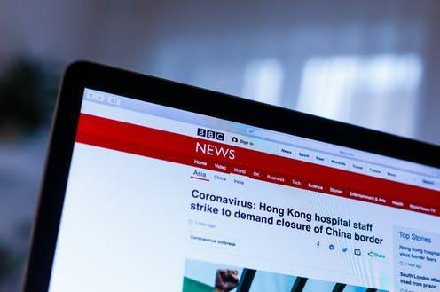 """<span class=""""caption"""">BBC is the UK's most trusted news source on the conronavirus pandemic.</span> <span class=""""attribution""""><span class=""""source"""">Andrew Angelov via Shutterstock</span></span>"""