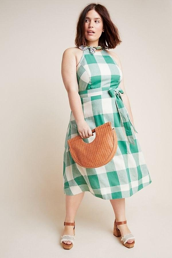 "$160, Anthropologie. <a href=""https://www.anthropologie.com/shop/greta-gingham-dress?category=dresses&color=038&quantity=1&type=PLUS"">Get it now!</a>"