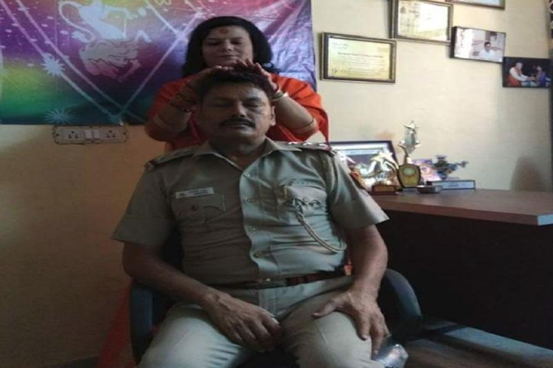 Delhi Cop Transferred After Photo with Godwoman Goes Viral