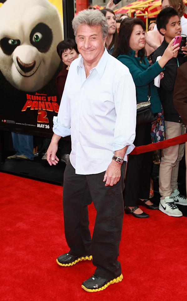 "<a href=""http://movies.yahoo.com/movie/contributor/1800014129"">Dustin Hoffman</a> attends the Los Angeles premiere of <a href=""http://movies.yahoo.com/movie/1810090593/info"">Kung Fu Panda 2</a> on May 22, 2011."