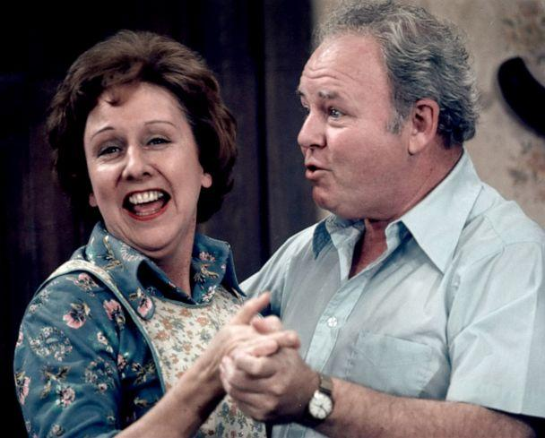 PHOTO: Jean Stapleton, as Edith Bunker, and Carroll O'Connor, as Archie Bunker, in a scene from 'All in the Family.' (Cbs Photo Archive/CBS via Getty Images)