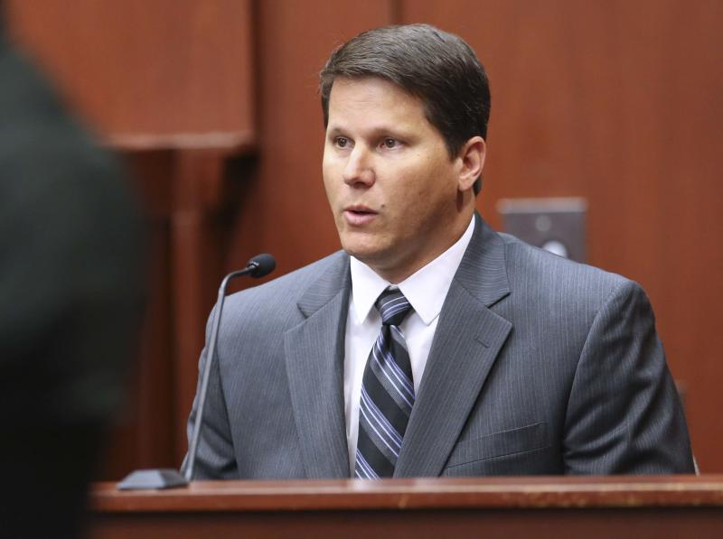 Ben Kruidbos, an IT worker from the state attorney's office, testifies during a hearing for George Zimmerman, in Seminole circuit court, in Sanford, Fla., Thursday, June 6, 2013. A judge denied a defense request to let a handful of witnesses testify confidentialiy during Zimmerman's trial for fatally shooting Trayvon Martin. Zimmerman is pleading not guilty, claiming self-defense. (AP Photo/Orlando Sentinel, Joe Burbank, Pool)