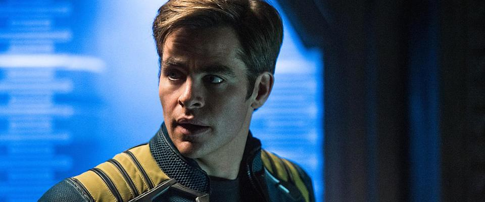 Chris Pine as an older, wiser Captain Kirk in 'Star Trek Beyond'. (Credit: Paramount Pictures)