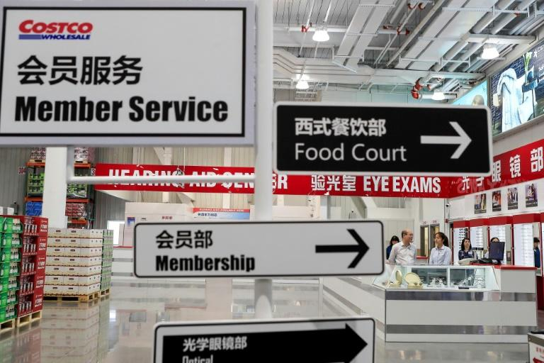 Costco's Shanghai store opens on Tuesday, five years after the US retail giant make its first online foray into China through Alibaba's cross-border e-commerce platform (AFP Photo/STR)