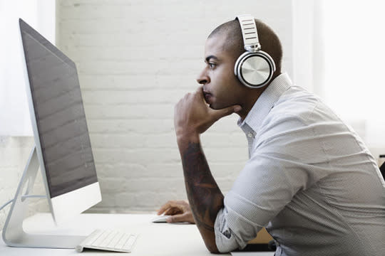 <p>You put on your best pump-up music when you need energy at the gym, so why not do the same in the office? Throw on your favorite tunes to help energize yourself for the rest of the afternoon.</p><p><i>(Photo: Getty Images)</i><br /></p>