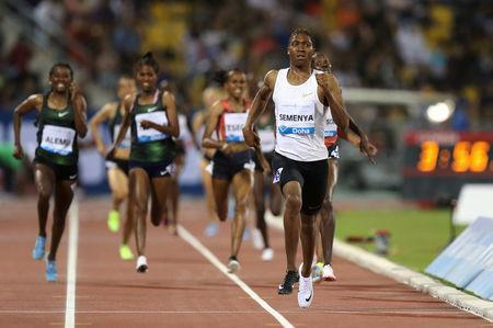 Athletics - Diamond League - Doha - Qatar Sports Club, Doha, Qatar - May 4, 2018 South Africa's Caster Semenya wins the women's 1500m. REUTERS/Ibraheem Al Omari