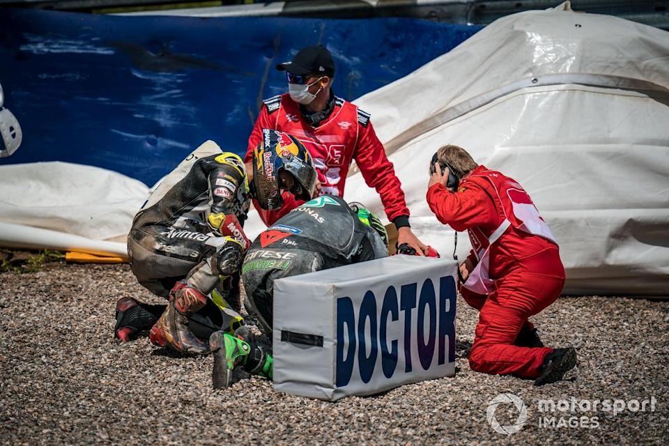 "Accidente de Franco Morbidelli, Petronas Yamaha SRT<span class=""copyright"">Gold and Goose / Motorsport Images</span>"