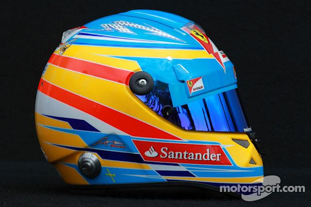 "Casco de Fernando Alonso en 2012 <span class=""copyright"">XPB Images</span>"