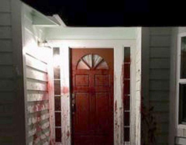 PHOTO: Barry Brodd's former home is seen vandalized in images posted to the Santa Rosa Police Department's Facebook page following his testimony in Derek Chauvin's trial. (Santa Rosa Police Department via Facebook)
