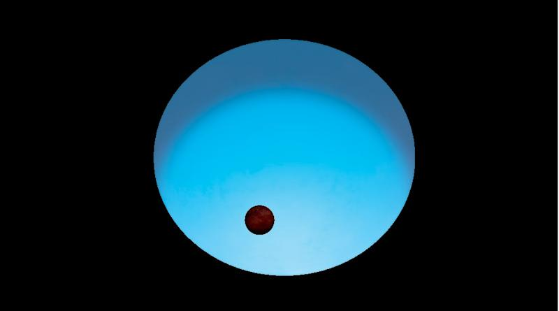 The planet has one face turned towards its hot blue star (ESA)