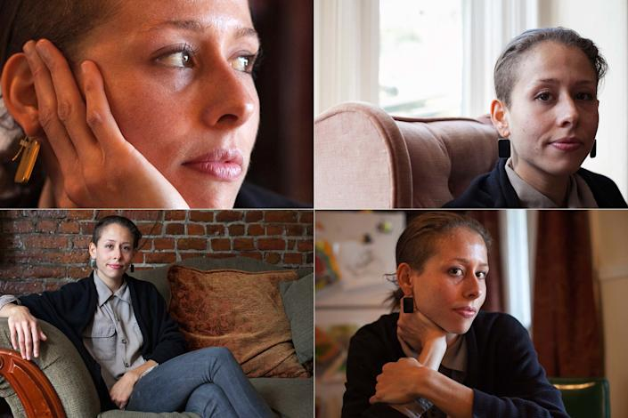 """Lisa, a 27-year-old restaurant manager, posed for a portrait in her home in Massachusetts on October 11, 2012. Lisa said she was 24 when she became pregnant and had an abortion. <br /><br /><i>""""No regrets. You never think about how you're going to feel when you do it. And when I did it, it was pretty straight-forward... The decision to do it wasn't hard and afterwards it hasn't been hard in that area. I mean, I've had struggles... And I thought I would maybe think about what it would be like if I went through with the pregnancy and having a child and I don't think about it. I don't try to think about it. I don't try not to, I just -- I don't.""""<br /><br /></i>Read the rest of Lisa's story <a href=""""http://allisonjoyce.com/abortion-after-the-decision/ABORTION_ALLISONJOYCE__103-copy/"""" target=""""_blank"""">here</a>."""