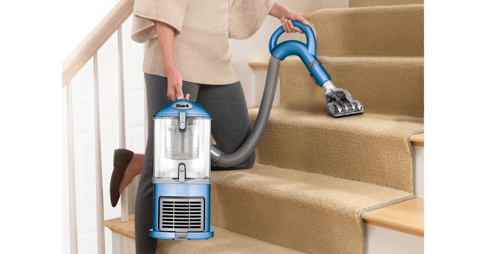 The Shark Navigator Lift-Away Upright Vacuum Healthy Home Edition has a Lift-Away detachable pod for above-floor cleaning. (Photo: Walmart)