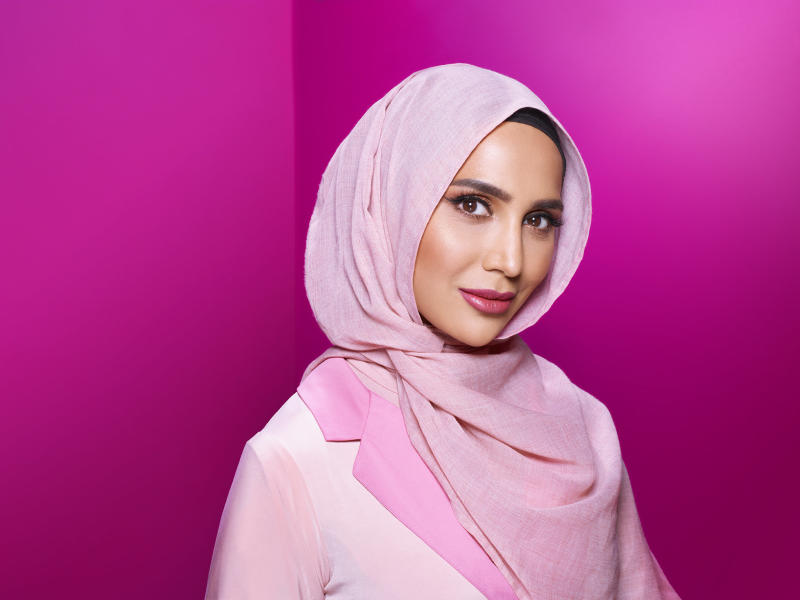 <strong>Amena Khan became the first woman in a hijab to feature in hair brand L'Oreal's advertising</strong>