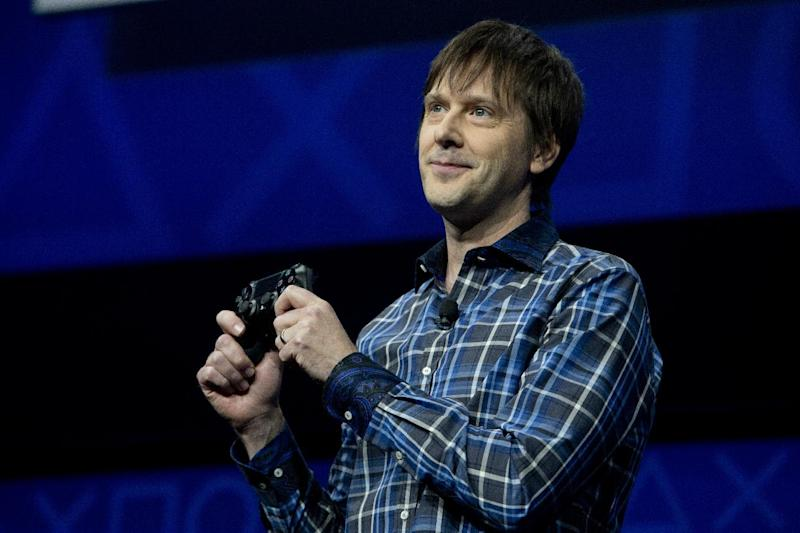 FILE - In this Feb. 20, 2013 file photo, Mark Cerny, lead system architect for the Sony Playstation 4 speaks during an event to announce the new video game console, in New York. The schedule for the 2013 GDC held March 25-29, in San Francisco, illustrates the dramatic changes that have reshaped the gaming industry in recent years, an evolution that's as much about business models as it is about pixels. Sony is angling to reignite developers' enthusiasm with the PlayStation 4. (AP Photo/Frank Franklin II, File)