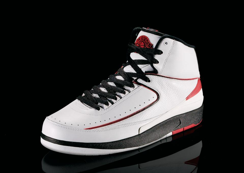 "<p>Air Jordan II - ""Italian Stallion"" (1987): Jordan won his first dunk title in these shoes. (Photo courtesy of Nike)</p>"