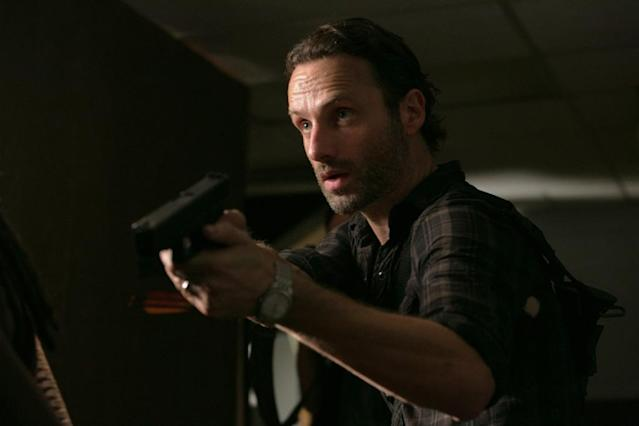 "Rick Grimes (Andrew Lincoln) in ""The Walking Dead"" episode, ""Made to Suffer."""