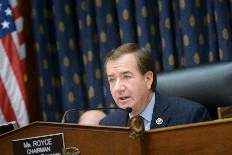 "Republican Congressman Ed Royce, seen speaking during a hearing on June 2, 2015, said Washington was getting ""rolled"" by the Islamic republic over the nuclear deal reached last year"