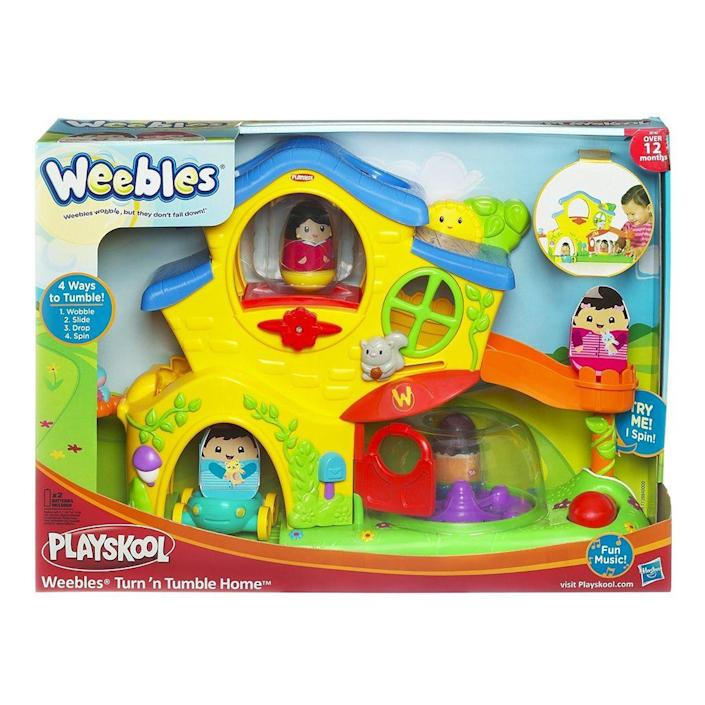 <p>Hasbro's Playskool division struck big with the invention of Weebles. The short, round, egg-shaped figurines — that would tip, but never fall — were a success in the early '70s. The original set was a dad, mom, brother, sister, baby, and dog. Hasbro developed new ones until 1982, and they relaunched in 2004 with a line shaped like animals.</p>