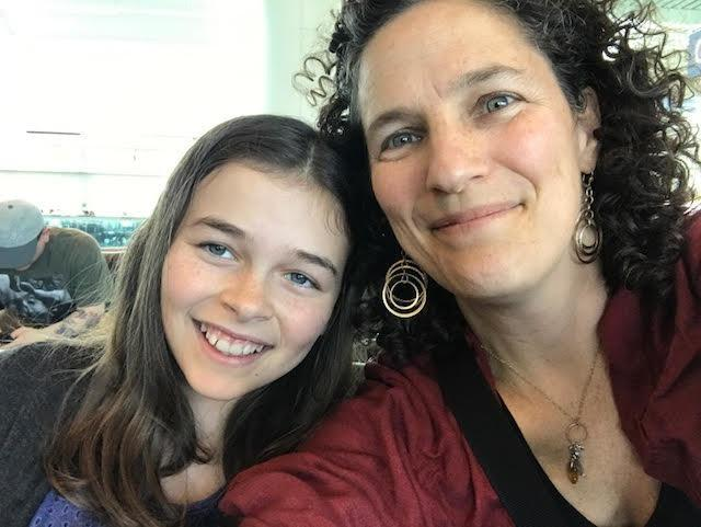 Lisa Frack, president of the board of Oregon NOW, with her 11-year-old daughter Georgia. (Lisa Frack)