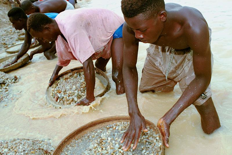 Unearthed: the diamond was found in Sierra Leone's diamond-rich eastern province: Chris Hondros/Getty Images