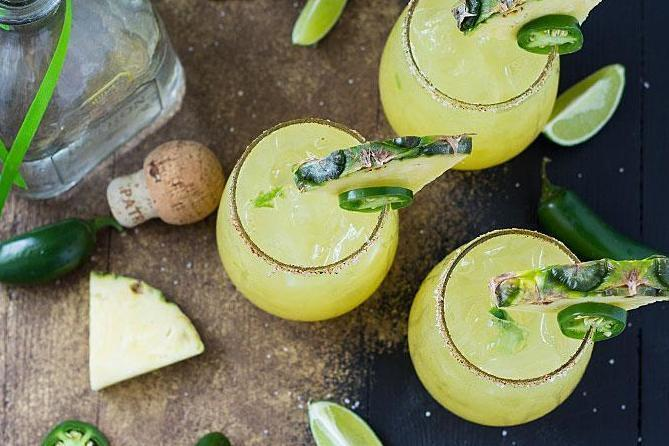 Drink up: the margarita march includes a whopping eight rounds