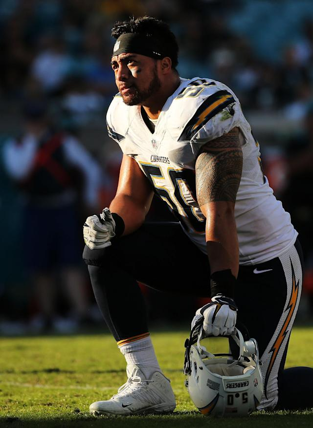 By the 2016 season, Te'o was named one of the Chargers' team captains. However, after a string of foot injuries, which went back to his rookie year, Te'o suffered a torn achilles and was placed on the injured reserve at the end of September 2016.