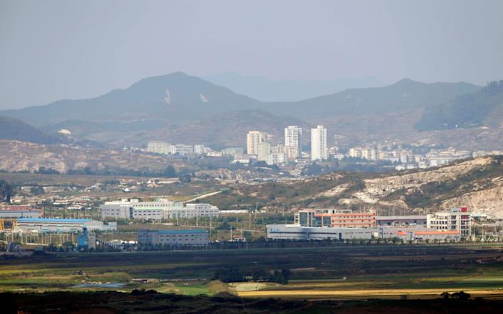 Kaesong city is seen across the demilitarised zone (DMZ) separating North Korea from South Korea - Lee Jae Won / Reuters