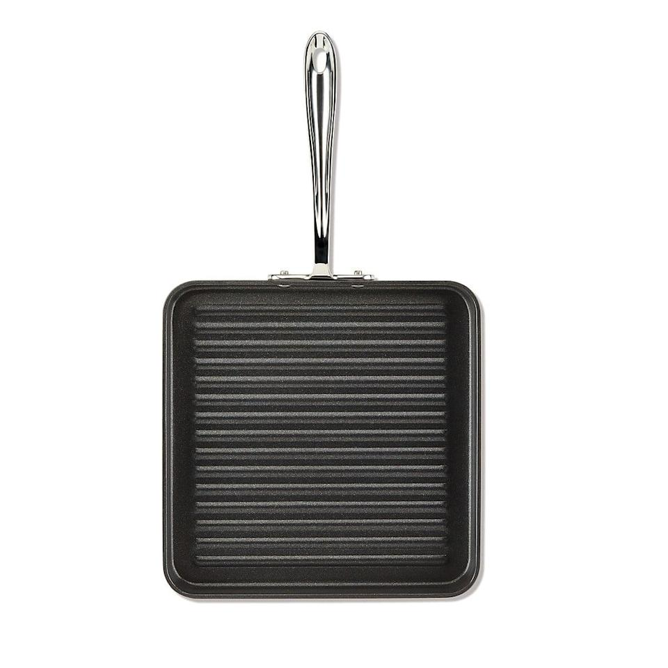 "<p>When the thought of standing outside to flip burgers just doesn't sound appealing (hello, rainy weather!), consider this <span>All-Clad 11"" Hard Anodized Nonstick Square Grill</span> ($82) your go-to for deliciously grilled dinners from the convenience of your stovetop.</p>"