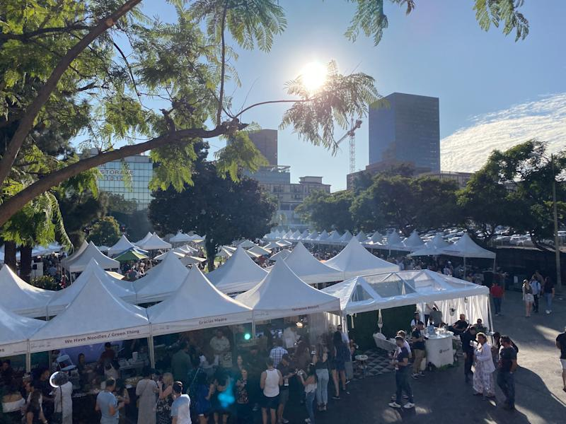 The USA TODAY Wine and Food Experience in LA hosted 30 vendors, according to festival organizers.