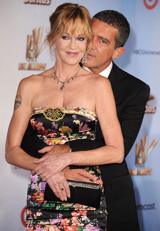 "After 15 years of marriage, it looks like Melanie Griffith and Antonio Banderas are still in love! The two proved it by snuggling up on the red carpet. Steve Granitz/<a href=""http://www.wireimage.com"" target=""new"">WireImage.com</a> - September 10, 2011"