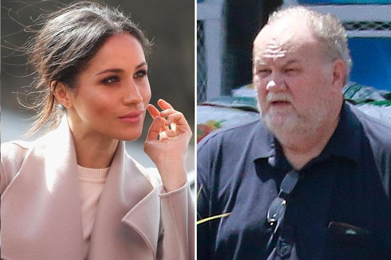 Meghan and her father Thomas Markle