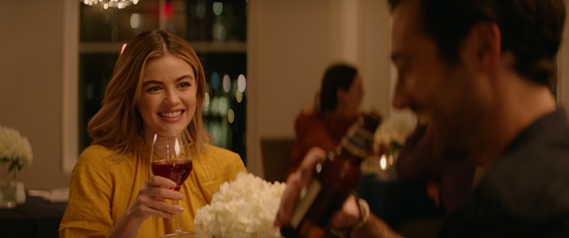 "A violinist (Lucy Hale) finds a new man (Leonidas Gulaptis) while working through a sex-centric to-do list in ""A Nice Girl Like You."""