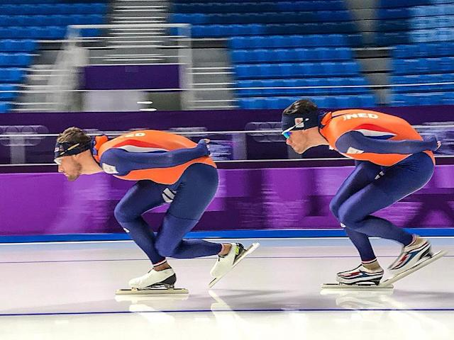 <p>Kjeld Nuis Netherlands, speed skating<br> kjeldnuis: Raceprep 1500M #Pyeongchang2018<br> (Photo via Instagram/kjeldnuis) </p>