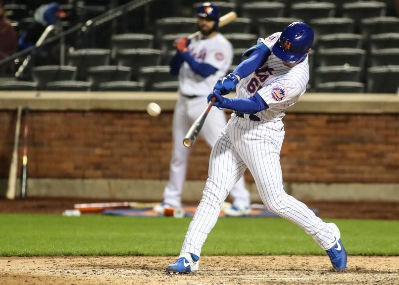 McKinney hits HR from left side at citi field home whites night game