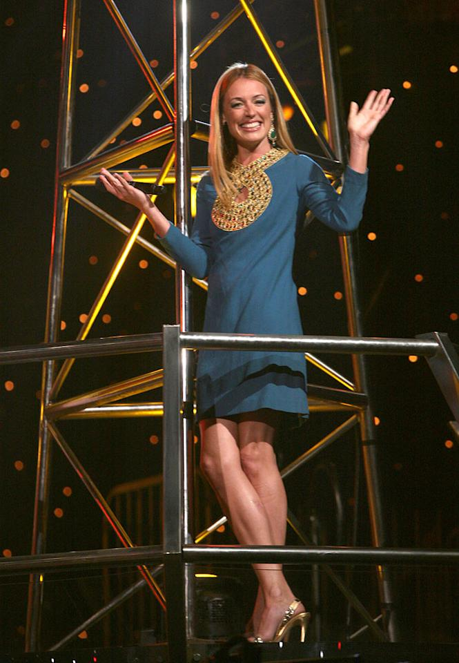 """<a href=""""/cat-deeley/contributor/2212390"""">Cat Deeley</a> was perhaps inspired by Cleopatra when she announced <a href=""""/so-you-think-you-can-dance/show/36160"""">""""So You Think You Can Dance""""</a> Season 5's Top 10 because her retro outfit consisted of a vintage dress, gigantic Melinda Maria earrings, and golden Sergio Rossi heels."""