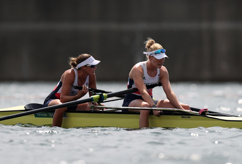 Helen Glover and Polly Swann claim another fourth place finish for Team GB. (Getty Images)